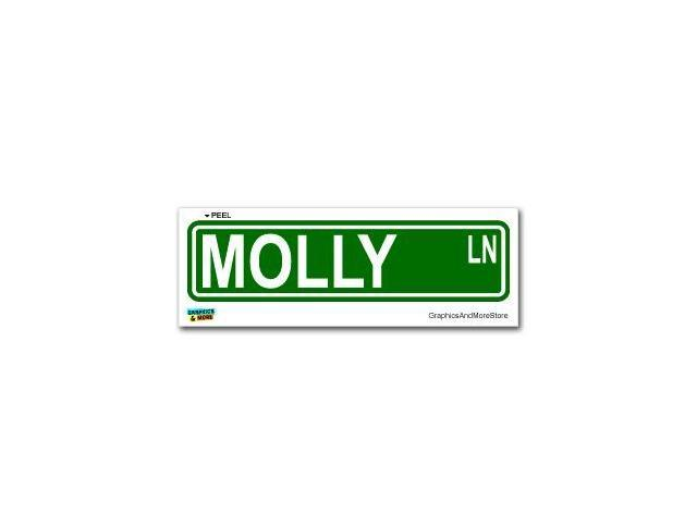 Molly Street Road Sign Sticker - 8.25