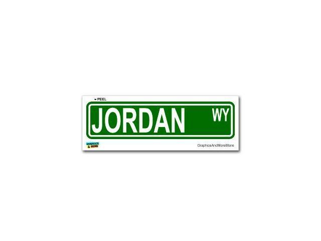 Jordan Street Road Sign Sticker - 8.25