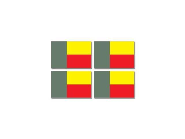 Benin Country Flag - Sheet of 4 Stickers - 3