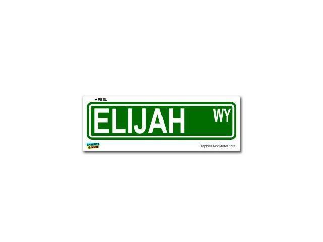 Elijah Street Road Sign Sticker - 8.25