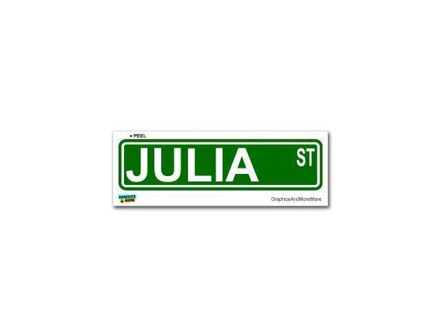 Julia Street Road Sign Sticker - 8.25