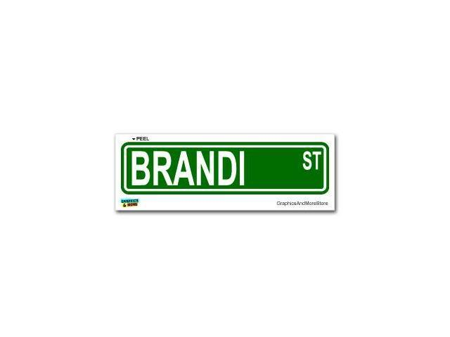Brandi Street Road Sign Sticker - 8.25