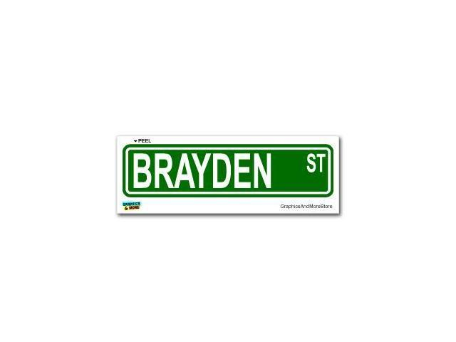 Brayden Street Road Sign Sticker - 8.25