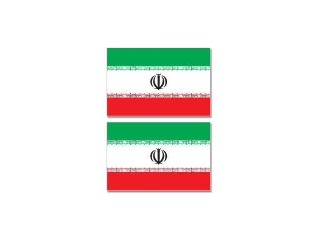 Iran Country Flag - Sheet of 2 Stickers - 4