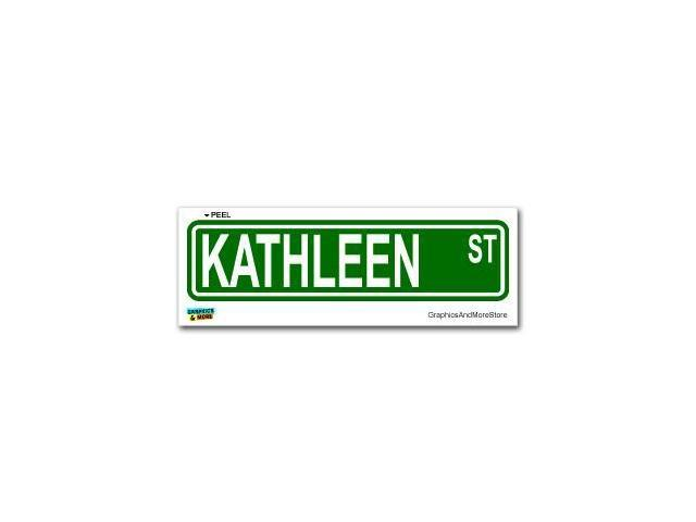 Kathleen Street Road Sign Sticker - 8.25