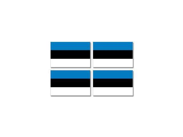 Estonia Country Flag - Sheet of 4 Stickers - 3