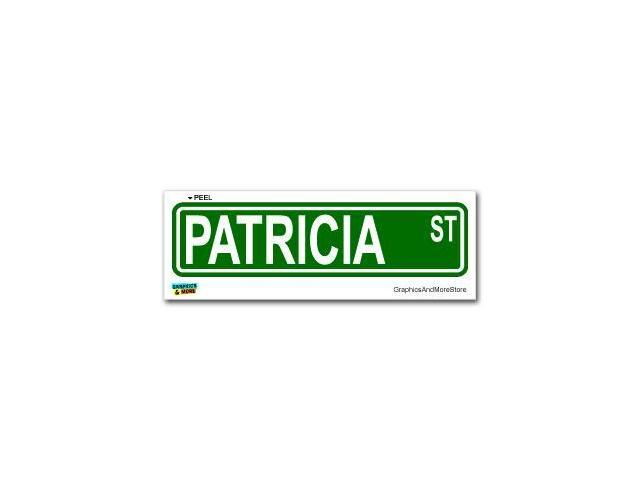 Patricia Street Road Sign Sticker - 8.25