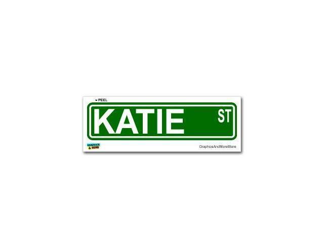 Katie Street Road Sign Sticker - 8.25