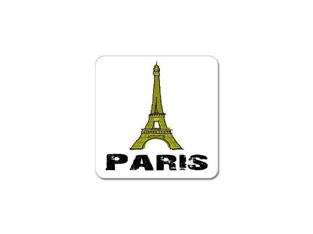 """Eiffel Tower Paris France Sticker - 5"""" (width) X 5"""" (height)"""