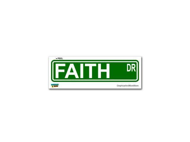Faith Street Road Sign Sticker - 8.25