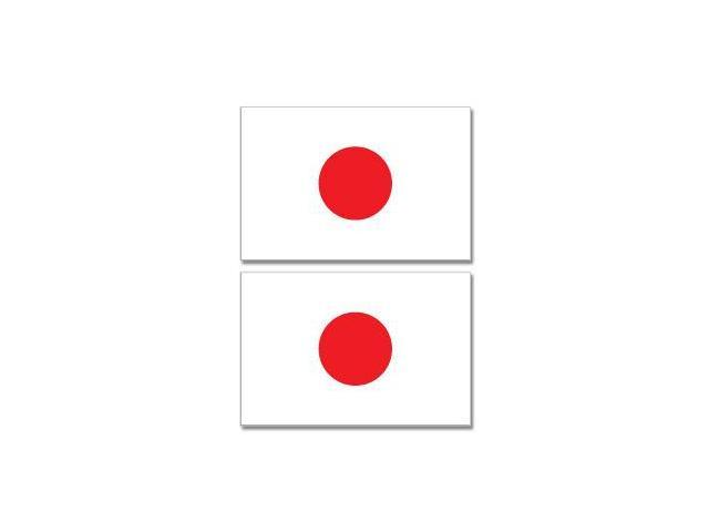 Japan Japanese Country Flag - Sheet of 2 Stickers - 4