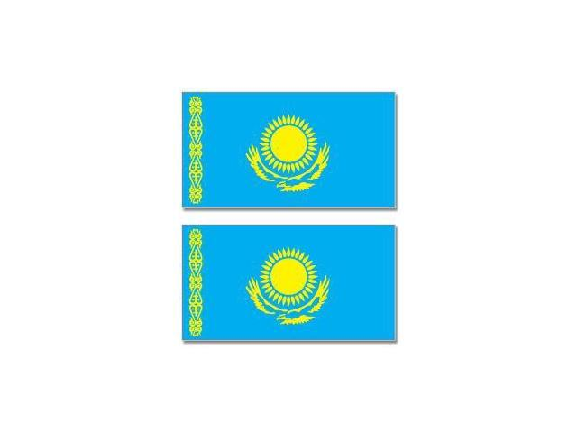 Kazakhstan Country Flag - Sheet of 2 Stickers - 4