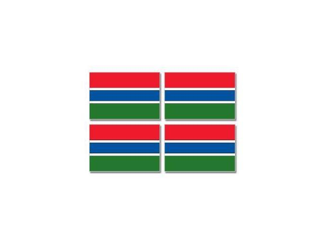 Gambia Country Flag - Sheet of 4 Stickers - 3