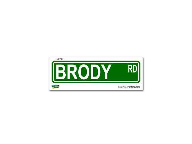 Brody Street Road Sign Sticker - 8.25