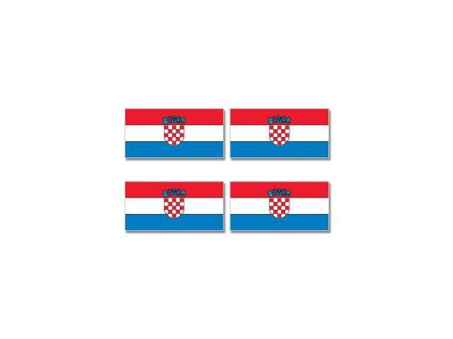 Croatia Country Flag - Sheet of 4 Stickers - 3