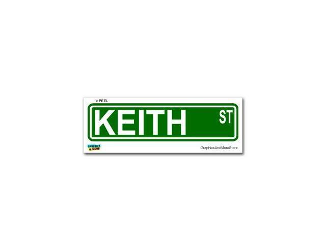 Keith Street Road Sign Sticker - 8.25