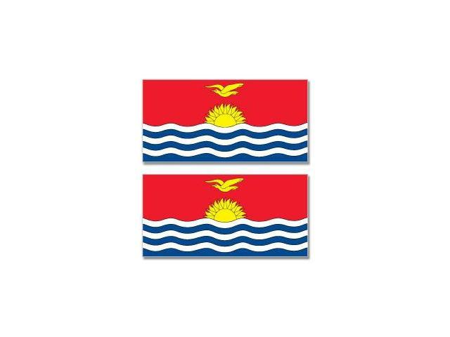 Kiribati Country Flag - Sheet of 2 Stickers - 4