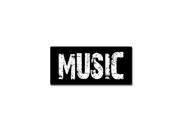 Music - Distressed Sticker - 7
