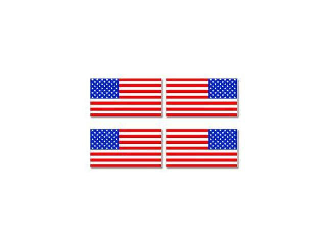 United States American Country Flag Mirror Images Sheet of 4 Stickers - 3