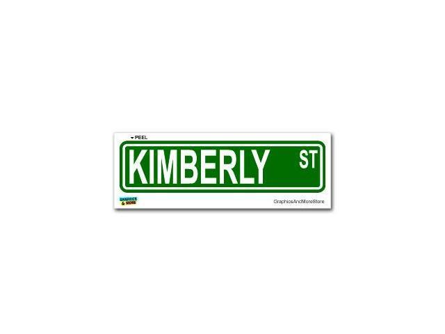 Kimberly Street Road Sign Sticker - 8.25