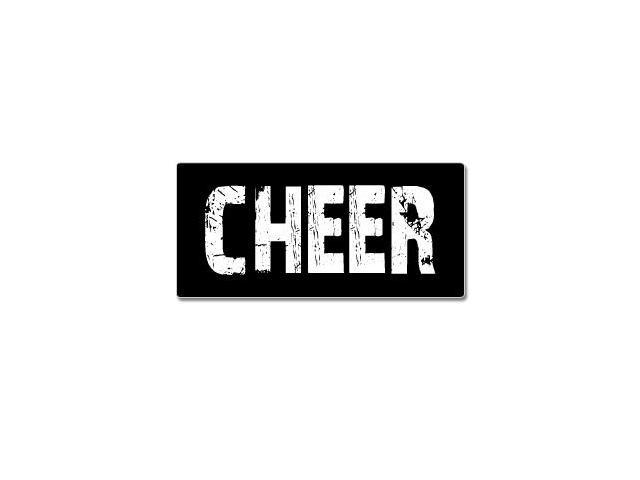 Cheer - Distressed Sticker - 7