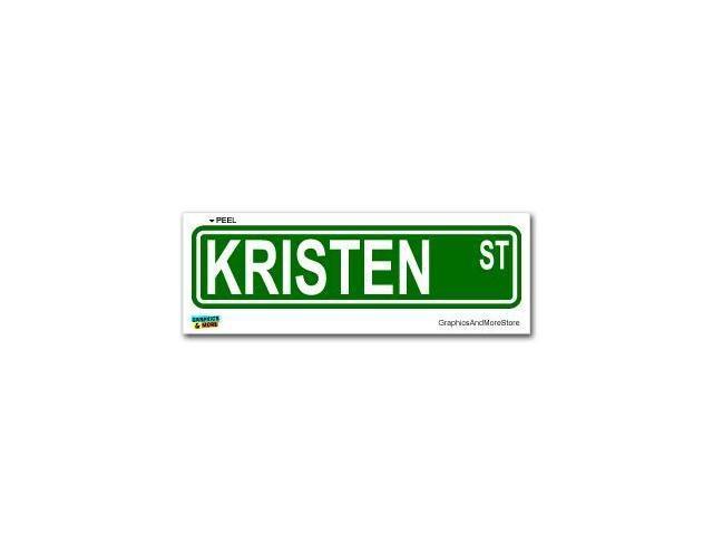 Kristen Street Road Sign Sticker - 8.25