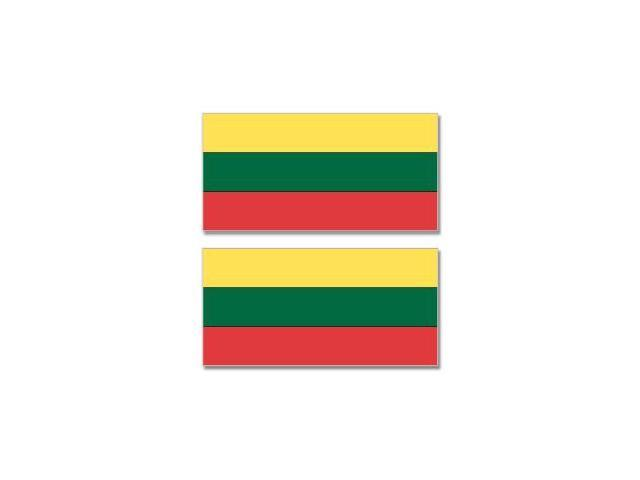 Lithuania Country Flag - Sheet of 2 Stickers - 4