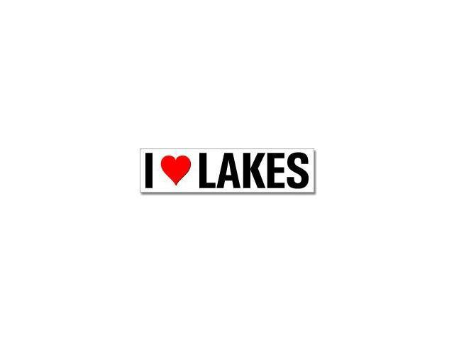 I Love Heart Lakes Sticker - 8