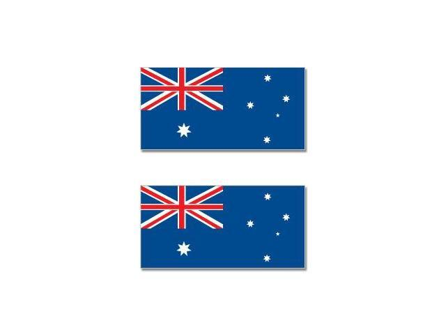 Australia Australian Country Flag - Sheet of 2 Stickers - 4