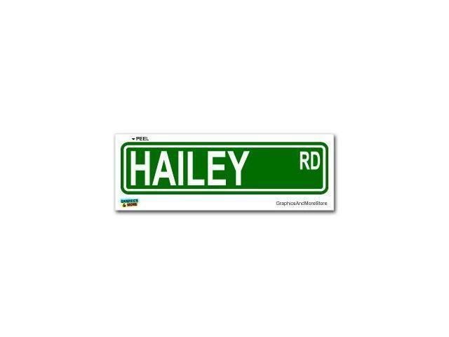Hailey Street Road Sign Sticker - 8.25