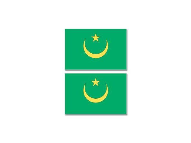 Mauritania Country Flag - Sheet of 2 Stickers - 4