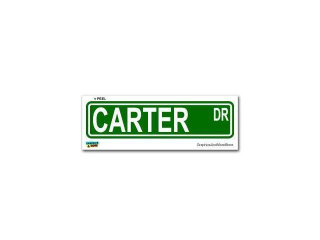 Carter Street Road Sign Sticker - 8.25