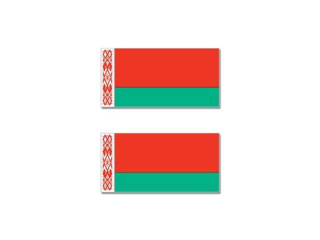 Belarus Country Flag - Sheet of 2 Stickers - 4