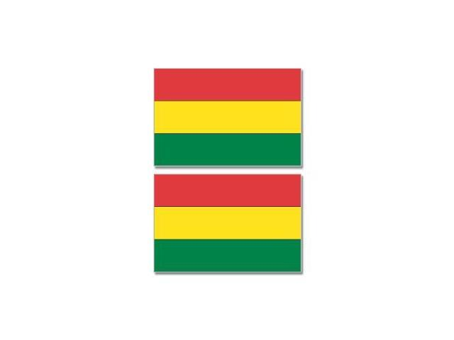 Bolivia Country Flag - Sheet of 2 Stickers - 4