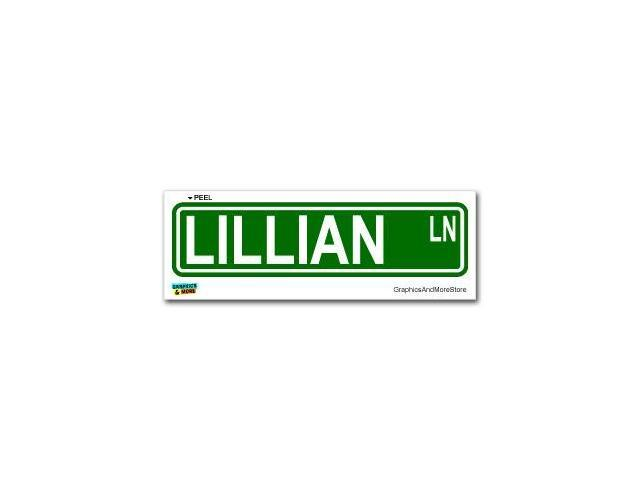 Lillian Street Road Sign Sticker - 8.25