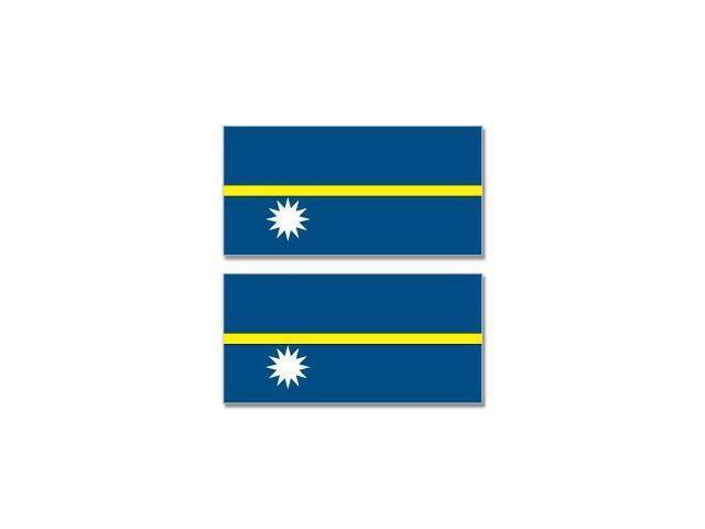 Nauru Country Flag - Sheet of 2 Stickers - 4