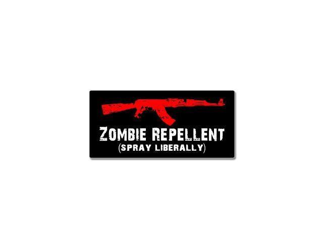 AK-47 Zombie Repellent Spray Liberally Sticker - 7