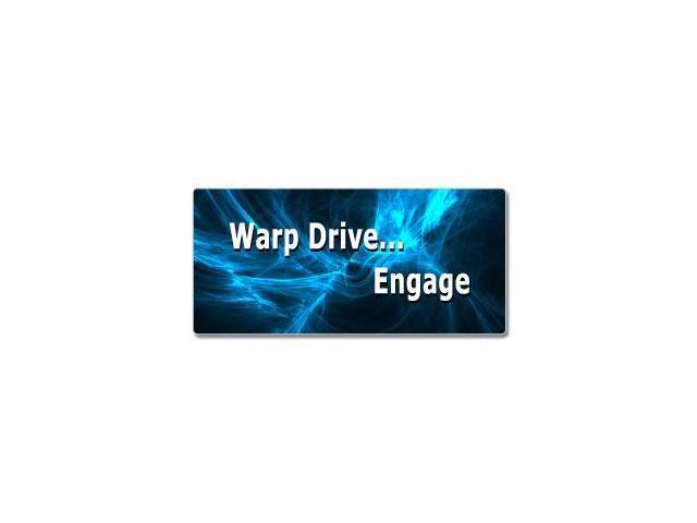 Warp Drive Engage - Star Trek Sticker - 7