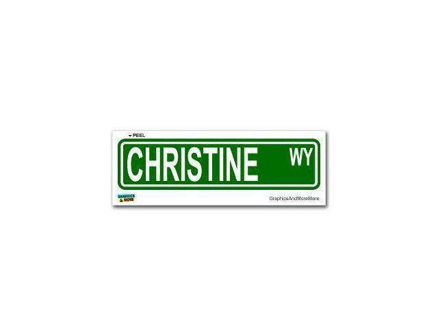 Christine Street Road Sign Sticker - 8.25