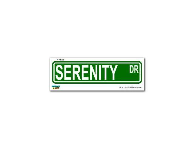 Serenity Street Road Sign Sticker - 8.25