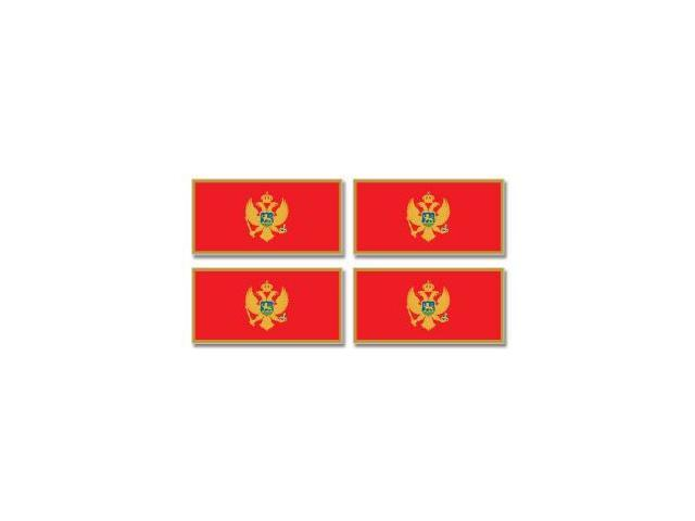 Montenegro Country Flag - Sheet of 4 Stickers - 3