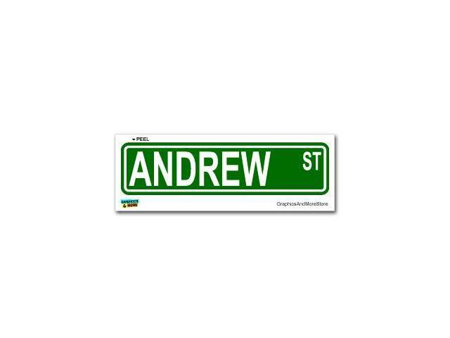 Andrew Street Road Sign Sticker - 8.25