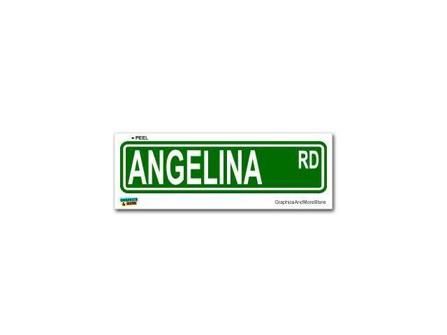 Angelina Street Road Sign Sticker - 8.25