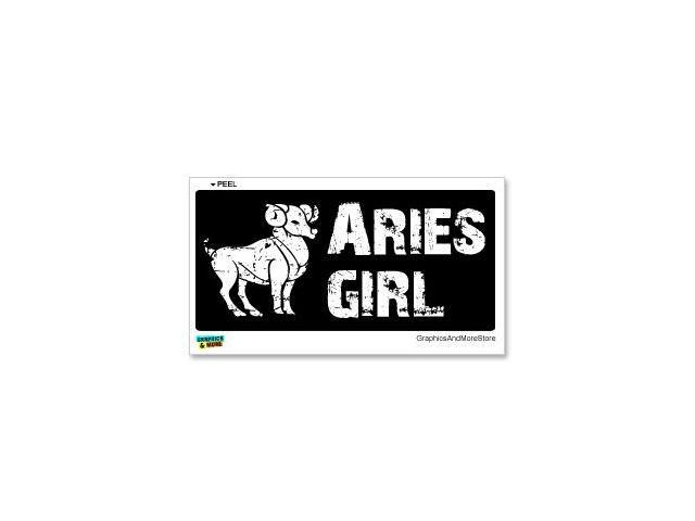 Aries Girl - Zodiac Horoscope Sign Sticker - 7