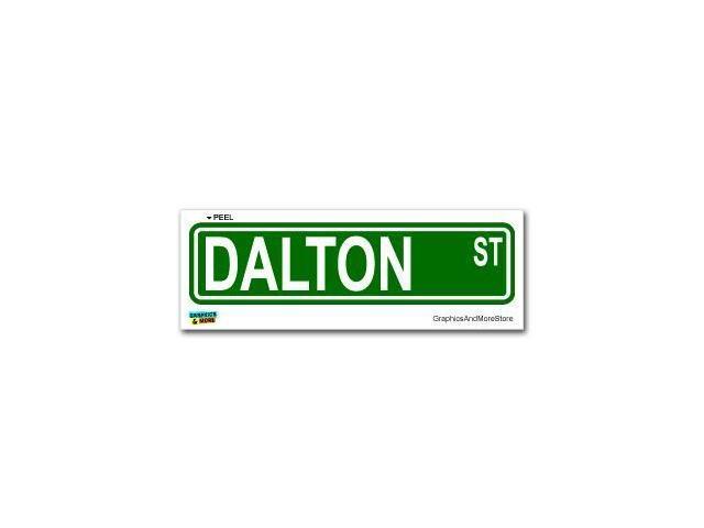 Dalton Street Road Sign Sticker - 8.25