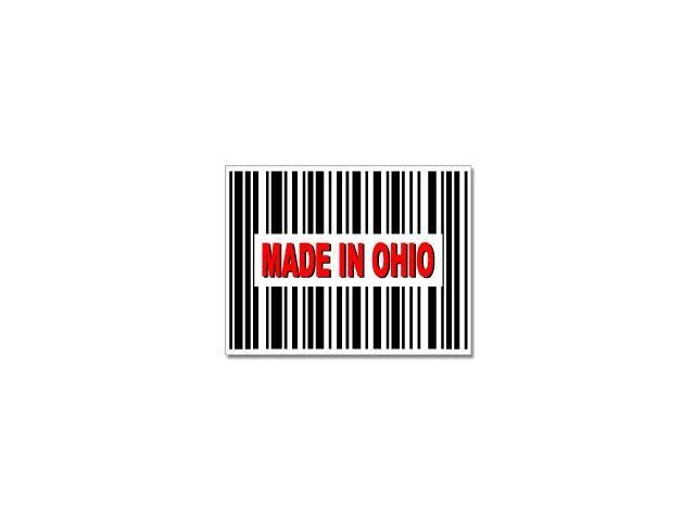 Made in Ohio Barcode Sticker - 4.5