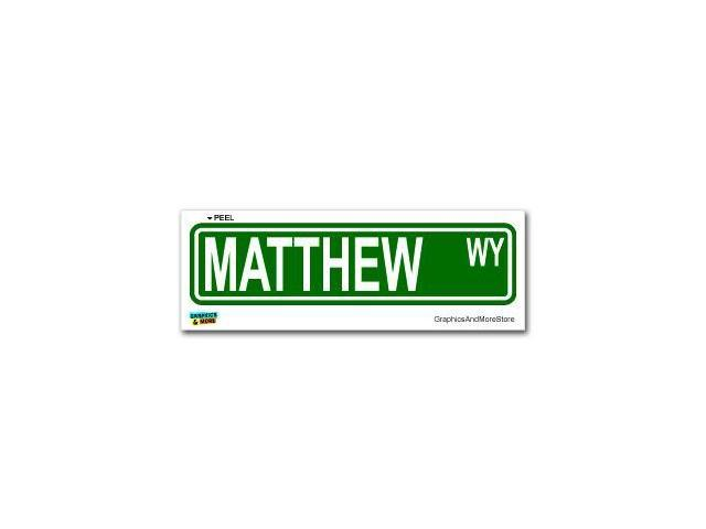 Matthew Street Road Sign Sticker - 8.25