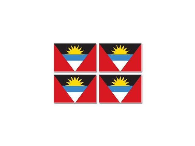 Antigua and Barbuda Country Flag - Sheet of 4 Stickers - 3