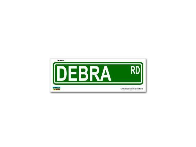 Debra Street Road Sign Sticker - 8.25
