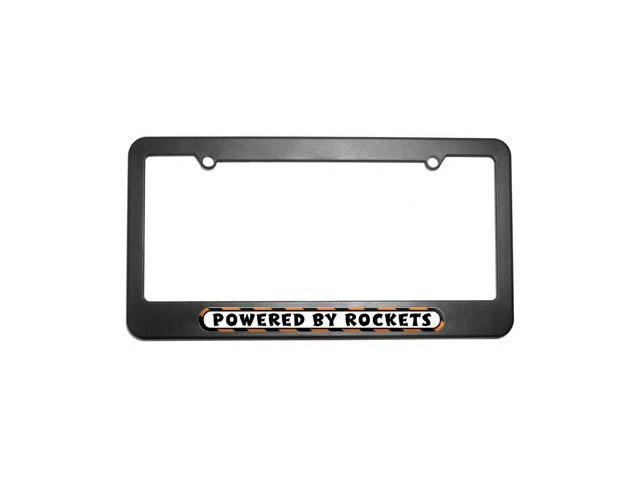Powered By Rockets License Plate Tag Frame